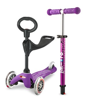 Micro Scooter Mini 3 in 1 Deluxe Purple