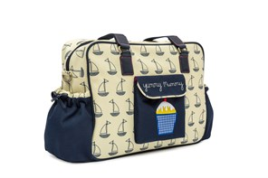 Pink Lining Yummy Mummy (Navy and Cream Boats)